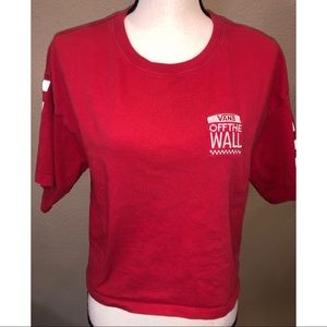 Vans Cropped T Shirt size small
